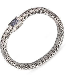 Classic Chain Sapphire & Sterling Silver Medium Bracelet