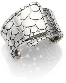 Kali Sterling Silver Overlap Cuff Bracelet