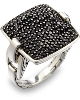 'classic Chain' Rectangular Ring