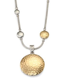 Palu 18k Yellow Gold & Sterling Silver Medium Round Enhancer