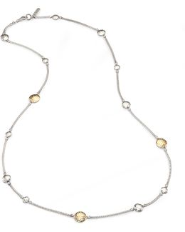 Palu 18k Yellow Gold & Sterling Silver Station Sautoir Necklace