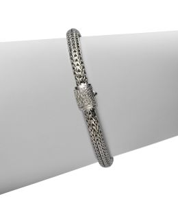 Classic Chain Diamond & Sterling Silver Extra-small Bracelet