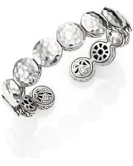 Palu Sterling Silver Disc Flex Cuff Bracelet