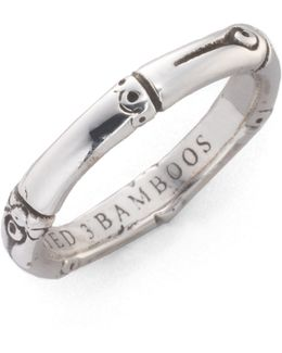 Bamboo Sterling Silver Slim Band Ring