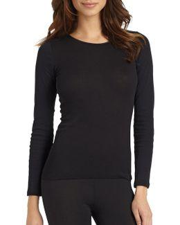 Cotton Seamless Long-sleeve Top