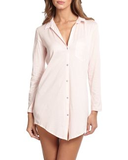 Cotton Deluxe Boyfriend Sleepshirt