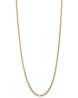 18k Yellow Gold Extra-small Oval Link Necklace Chain/18