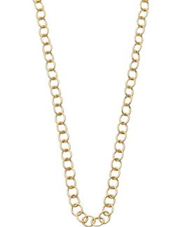 18k Yellow Gold Classic Oval Link Necklace Chain/32