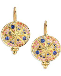 Celestial Multicolor Sapphire & 18k Yellow Gold Sorcerer Drop Earrings