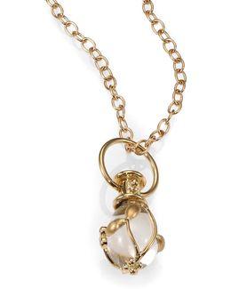 Tree Of Life Rock Crystal, Diamond & 18k Yellow Gold Small Vine Amulet