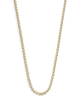 """18k Yellow Gold Ball Necklace Chain/18""""-20"""