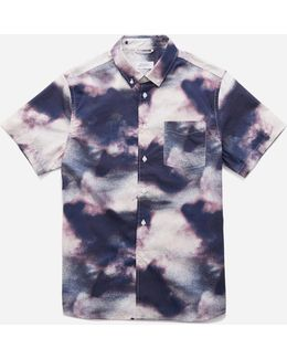 Esquina Button Down Clouds Short Sleeve Shirt
