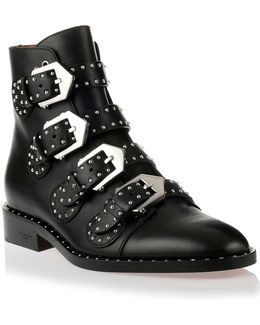 Black Studded Ankle Boot Us