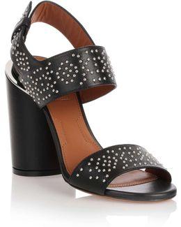 Black Studded Leather Sandal