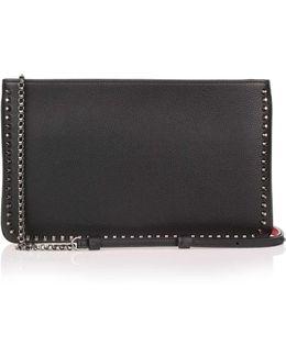 Loubiposh Black Leather Studs Clutch Us