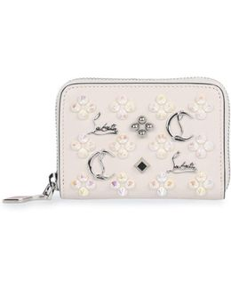 Panettone Ivory Logo Studded Coin Purse