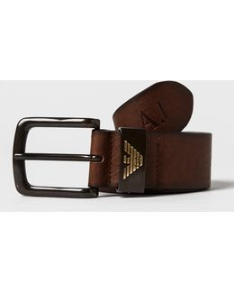 Leather Eagle Belt