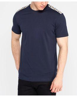 Check Shoulder Short Sleeve T-shirt