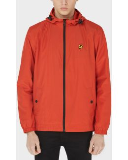Full Zip Hooded Lightweight Jacket