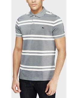 Birds Stripe Polo Shirt