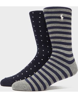 2-pack Spot & Stripe Socks
