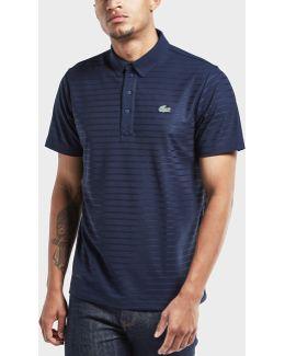 Striped Short Sleeve Polo Shirt