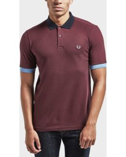 Block Pique Short Sleeve Polo Shirt