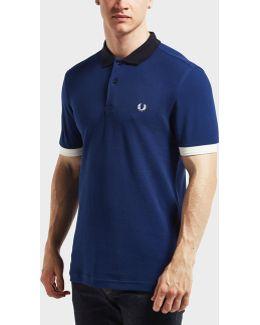 Block Pique Short Sleeve Polo Shirt