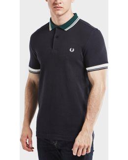 Ribbed Trim Short Sleeve Polo Shirt
