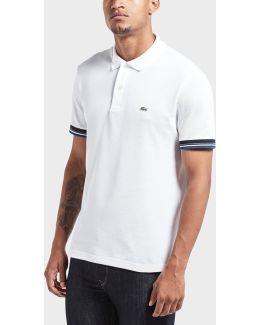 Ribbed Short Sleeve Polo Shirt