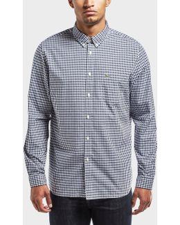 Gingham Poplin Long Sleeve Shirt