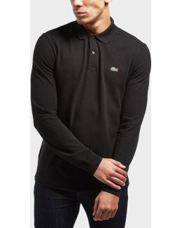Slim Fit Long Sleeve Polo Shirt