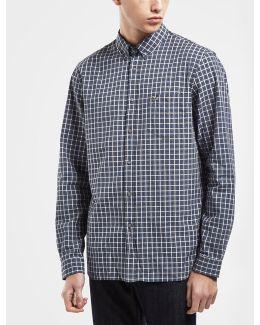 Fine Checked Long Sleeve Shirt