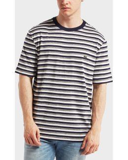 Striped Short Sleeve Crew Neck T-shrit