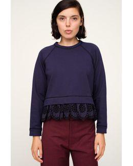 Eyelet Combo Sweatshirt