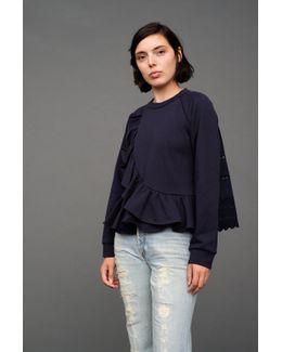 Ruffle Wrap Sweatshirt
