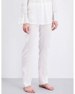 Peony Silk-georgette Pyjama Trousers