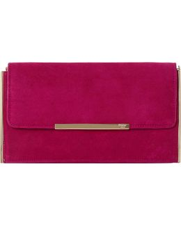 Blanka Suede Clutch Bag