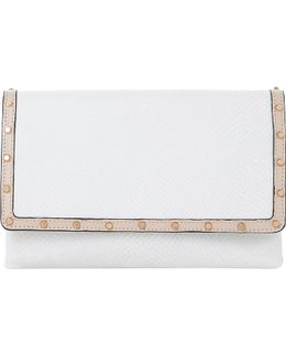 Bairo Reptile-embossed Leather Clutch