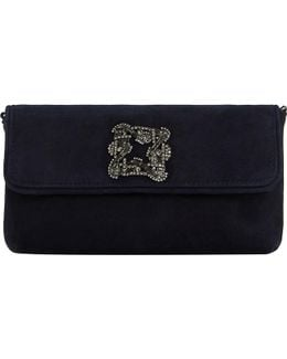 Betsey Suede Clutch Bag