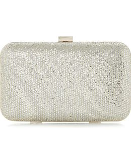 Bsarah Metallic Box Clutch