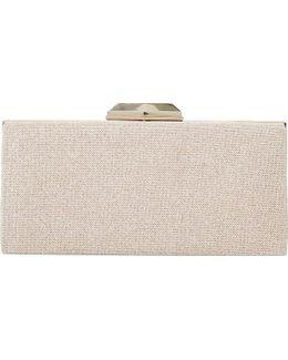 Barrbie Metallic Fabric Clutch Bag