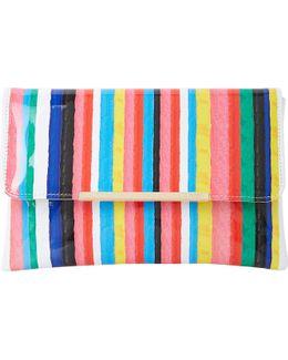 Bambu Stripe-print Clutch Bag