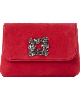 Beston Suede Embellished Handbag