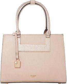 Crocodile-embossed Handbag