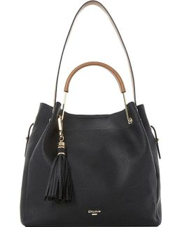 Large Metal Handle Slouch Handbag