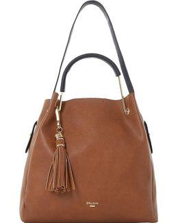 Daura Metal Handle Slouch Bag