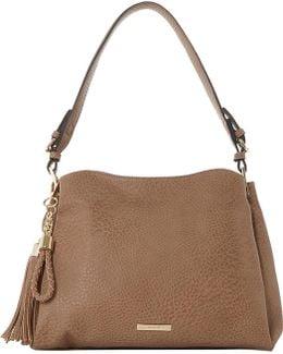 Charm-detail Faux-leather Shoulder Bag