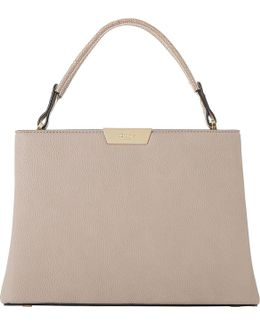 Dulice Faux-leather Box Top Handle Bag