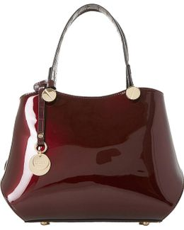 Dinidimogen Patent Faux-leather Handbag